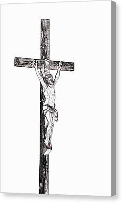 Christ On Cross Canvas Print