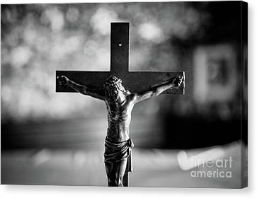 Canvas Print featuring the photograph Christ On The Cross by Dean Harte