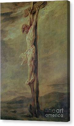 Christ On The Cross Canvas Print by Rembrandt