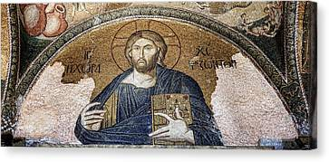 Christ Pantocrator -- Chora Canvas Print by Stephen Stookey