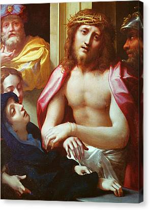 Christ Presented To The People Canvas Print by Correggio