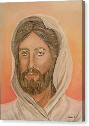Canvas Print featuring the painting Christ by Quwatha Valentine