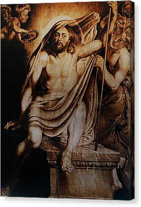 Christ Risen Canvas Print by Dino Muradian