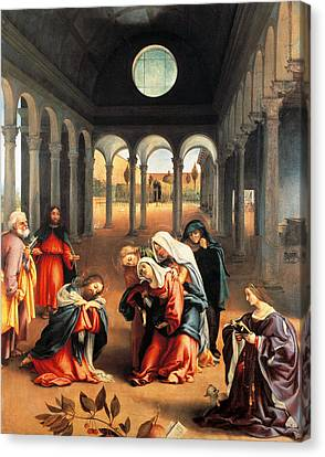 Christ Taking Leave Of His Mother Canvas Print