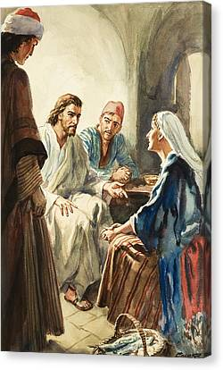 Christ Talking Canvas Print by Henry Coller
