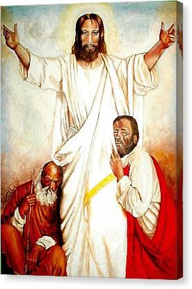 Christ The Healer Canvas Print by G Cuffia