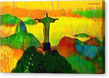 Olympic Canvas Print - Christ The Redeemer In Rio 3 - Pa by Leonardo Digenio