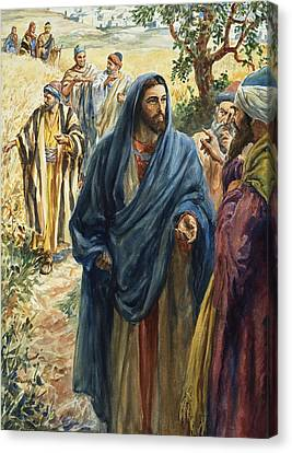 Christ With His Disciples Canvas Print by Henry Coller