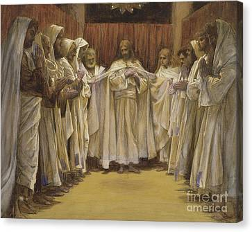 Christ With The Twelve Apostles Canvas Print by Tissot