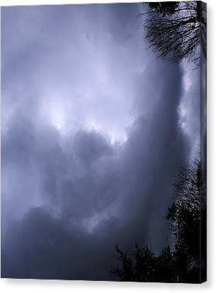 Christed Clouds Canvas Print