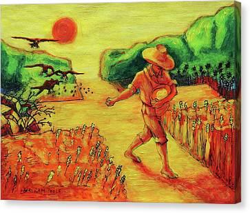 Christian Art Parable Of The Sower Artwork T Bertram Poole Canvas Print