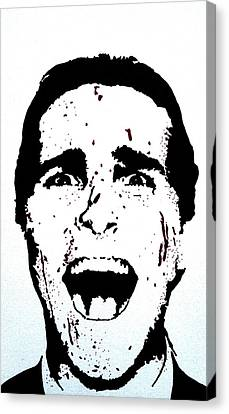 Christian Bale Canvas Print by Deborah Lepor