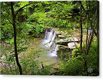 Christian Hollow Waterfall Canvas Print by Brad Hoyt