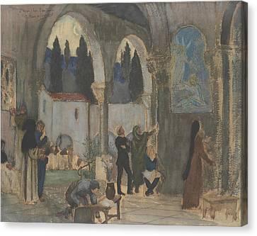 Christian Inspiration Canvas Print by Pierre Puvis de Chavannes