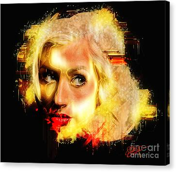 Christina Aguilera - All Thoughts Canvas Print