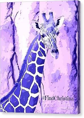 Christina's Giraffe Canvas Print by Robert ONeil