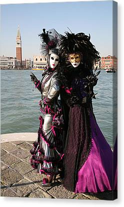 Christine And Gunilla Across St. Mark's  Canvas Print by Donna Corless