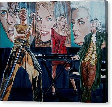 Canvas Print featuring the painting Christine Anderson Concert Fantasy by Bryan Bustard