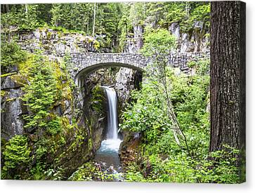 Christine Falls Mt. Rainier Canvas Print by Sam Amato