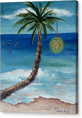 Canvas Print featuring the painting Christmas 2008 by Jamie Frier