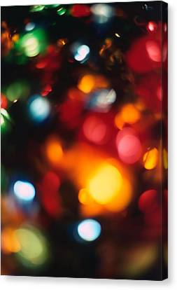 Christmas Abstract 2 Canvas Print by Steve Ohlsen