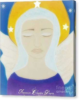Christmas Angel Canvas Print by Sacred  Muse