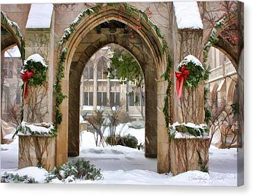 Christmas Arch Canvas Print by Christopher Arndt