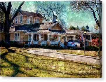Christmas At Home Canvas Print by Joan Bertucci