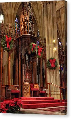 Christmas At  St. Patrick's Canvas Print by Jessica Jenney