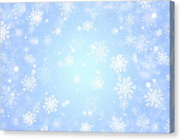 Christmas Background With Snowflakes. Canvas Print