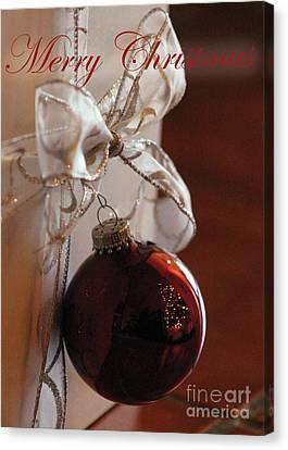 Christmas Ball And Bow Canvas Print