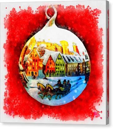 Nativity Canvas Print - Christmas Ball Ball by Esoterica Art Agency
