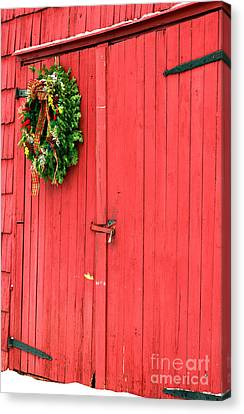 Christmas Barn Canvas Print by John Rizzuto