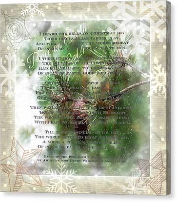 Christmas Bells Canvas Print by Anita Faye