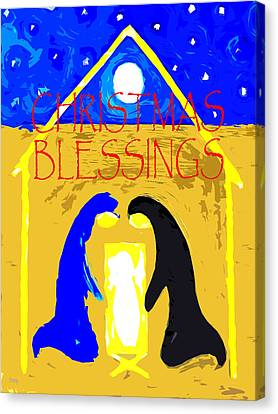 Christmas Blessings 4 Canvas Print by Patrick J Murphy