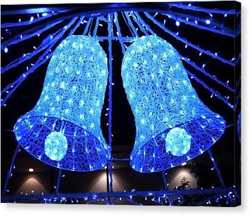 Christmas Blue Bells Canvas Print
