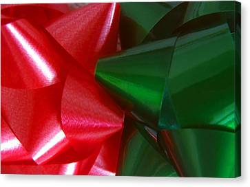 Christmas Bows 1 Canvas Print by Steve Ohlsen