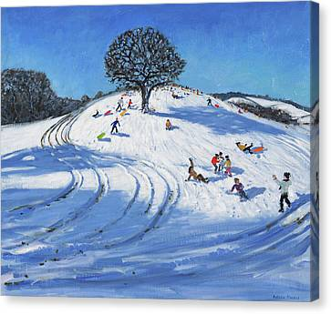 Christmas, Burley Lane, Derby Canvas Print by Andrew Macara