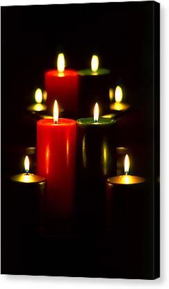 Christmas Candles 5 Canvas Print by Steve Ohlsen