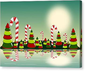 Series Canvas Print - Christmas Candy Island by Anastasiya Malakhova