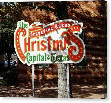 Christmas Capital Of Texas Canvas Print by Allen Sheffield