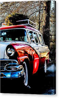 Christmas Car Canvas Print by Victory  Designs