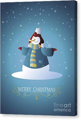 Christmas Card 07 Canvas Print by Pablo Romero