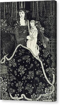 Madonna Canvas Print - Christmas Card by Aubrey Beardsley