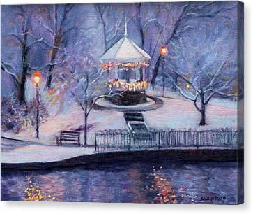 Decorated For Christmas Canvas Print - Christmas Card by Bonnie Mason