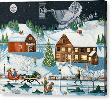 Christmas Cheer In Southern Vermont Canvas Print by Joshua Mac Allistar