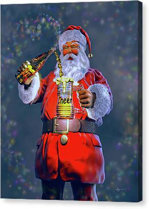 Christmas Cheer Iv Canvas Print by Dave Luebbert
