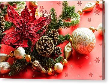 Christmas Cheer Canvas Print by Marina Kojukhova