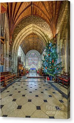 Christmas Church Canvas Print by Adrian Evans