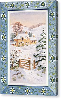 Christmas Cottage Canvas Print